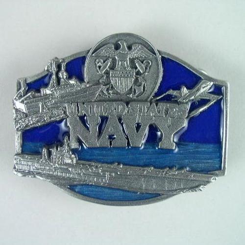 U.S. Navy Belt Buckle Fits 1 1/2 To 1 3/4 Inch Wide Belts.