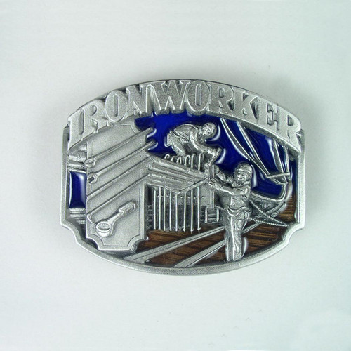 Iron Worker Belt Buckle Fits 1 1/2 To 1 3/4 Inch Wide Belts.