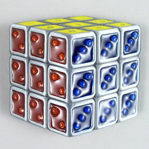 Rubik's Cube Belt Buckle Fits 1 1/2 Inch Wide Belt.