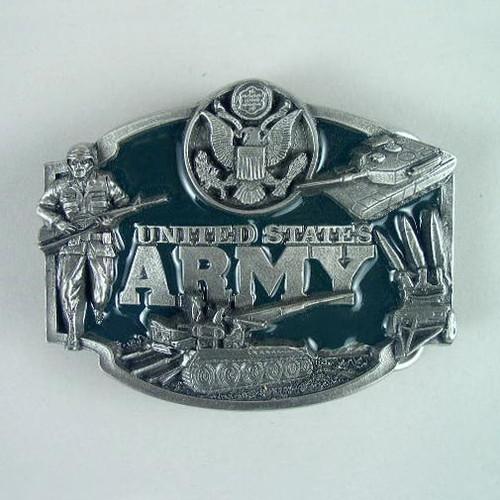 U.S. Army Belt Buckle Fits 1 1/2 To 1 3/4 Inch Wide Belts.