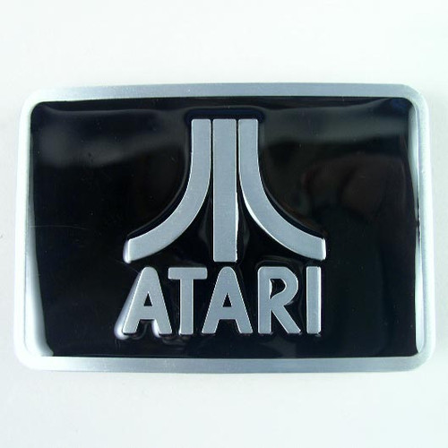 Atari Belt Buckle Fits 1 1/2 Inch Wide Belt.
