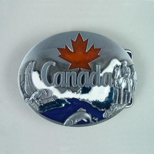 Canada Belt Buckle Fits 1 1/2 Inch Wide Belt.