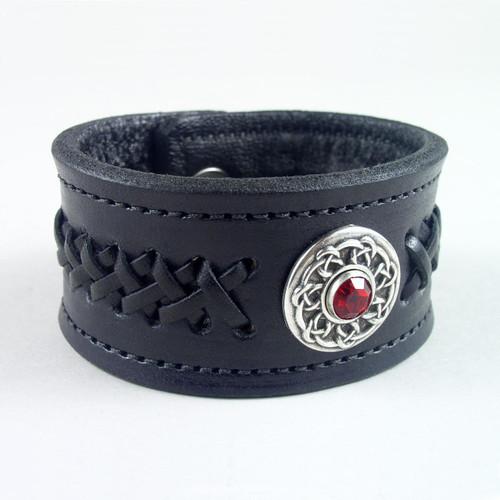 """Celtic Design Braided Bracelet 1 1/4"""" wide"""