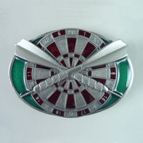 Darts Belt Buckle Fits 1 1/2 Inch Wide Belt.