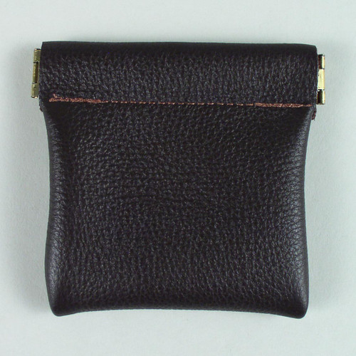 Leather Spring Frame Coin Purse
