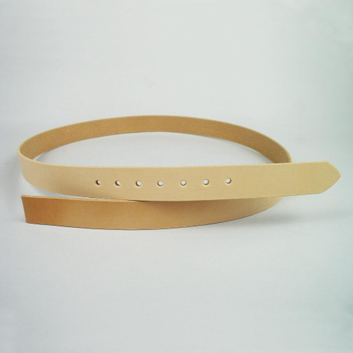 "1 1/4"" Belt Strip Punched & Beveled"