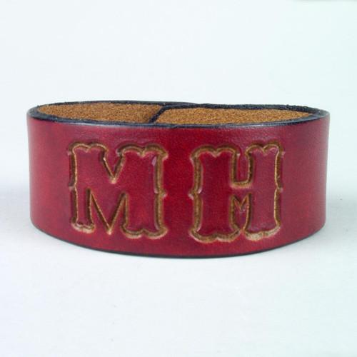 "Classic Leather ID Bracelet 1 1/2"" wide"