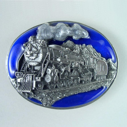 Train Belt Buckle Fits 1 1/2 Inch Wide Belt.