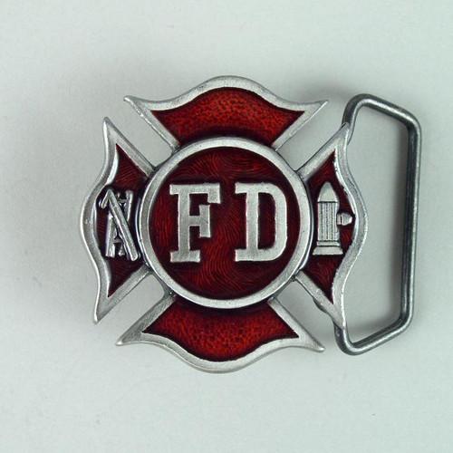 Fire Dept Belt Buckle Fits 1 1/2 To 1 3/4 Inch Wide Belts.
