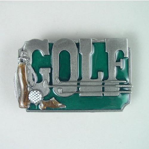 Golf Belt Buckle Fits 1 1/2 To 1 3/4 Inch Wide Belts.