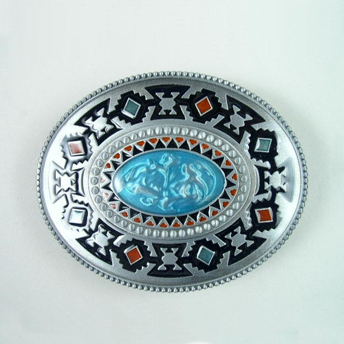 Native Art Belt Buckle (A) Fits 1 1/2 Inch Wide Belt.