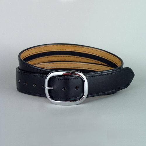 "Plain Leather Money Belt Width 1 1/2"" Wide"