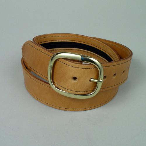 """Plain Leather Money Belt Width 1 1/2"""" Wide"""