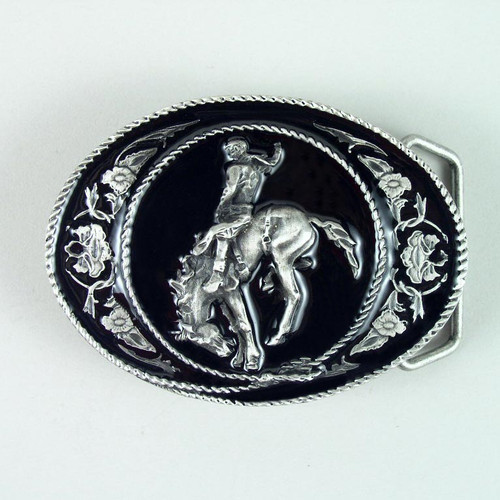 Rodeo Belt Buckle (A) Fits 1 1/2 To 1 3/4 Inch Wide Belts.