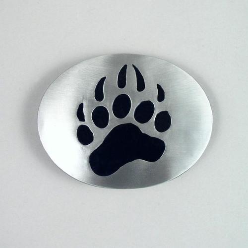 Grizzly Bear Paw Belt Buckle (C) Fits 1 1/2 Inch Wide Belt.