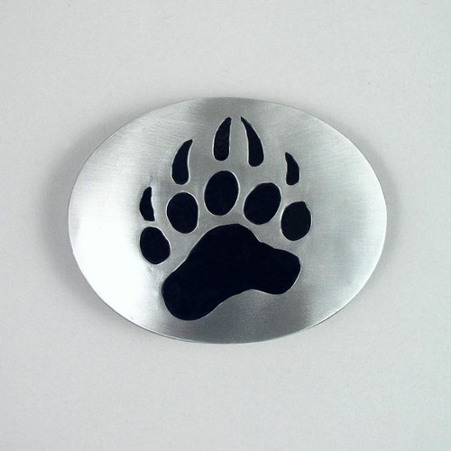 Grizzly Bear Paw Belt Buckle (C) Fits 1 1/2 Inch Wide Belt.