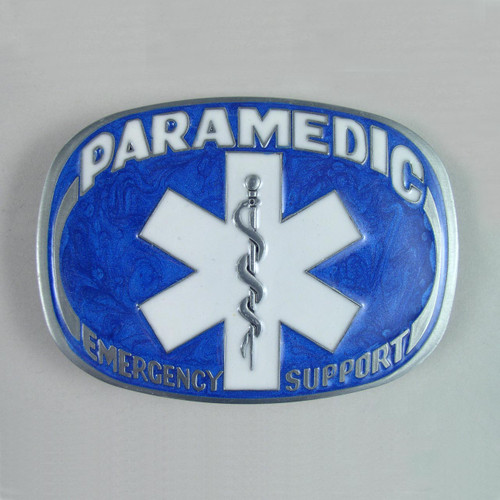 Paramedic Belt Buckle (A) Fits 1 1/2 Inch Wide Belt.