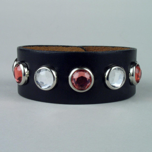 """Studded Leather Wristbands 3/4"""" wide"""