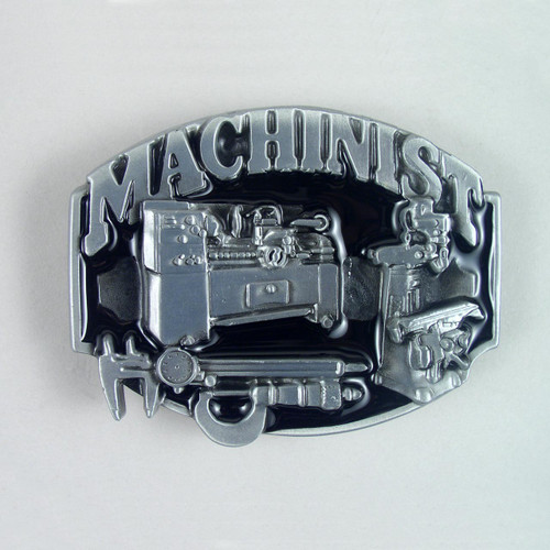 Machinist Belt Buckle Fits 1 1/2 Inch Wide Belt.