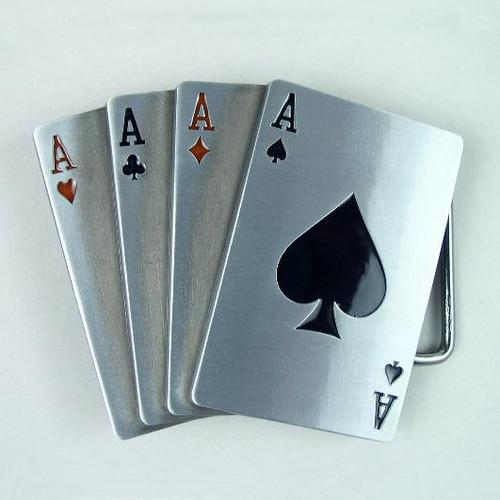 Poker Belt Buckle Fits 1 1/2 Inch Wide Belt.