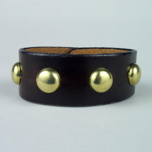 "Studded Leather Wristbands 1"" wide"