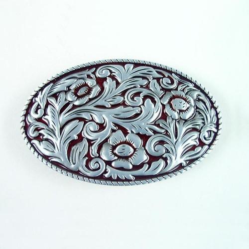 Floral Belt Buckle Fits 1 1/2 Inch Wide Belt.
