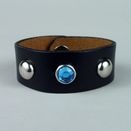 "Studded Leather Wristbands 1 1/4"" wide"