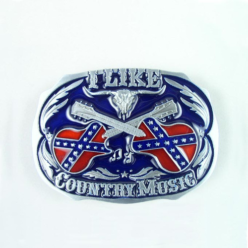 Country Music Belt Buckle (E) Fits 1 1/2 Inch Wide Belt.