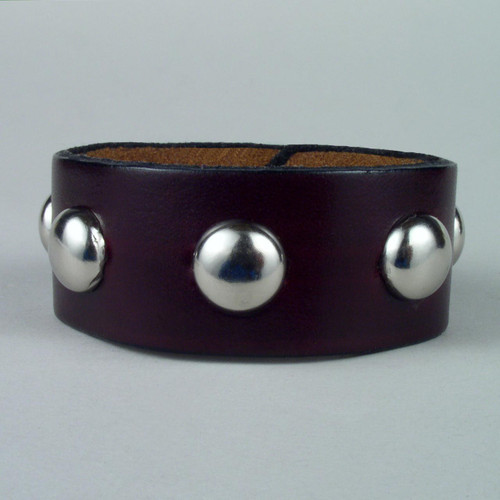 "Studded Leather Wristbands 1 1/2"" wide"