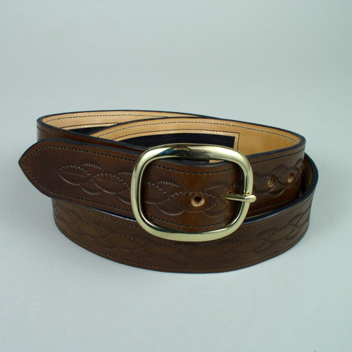 "Design Only Leather Money Belt 1 3/4"" Wide"