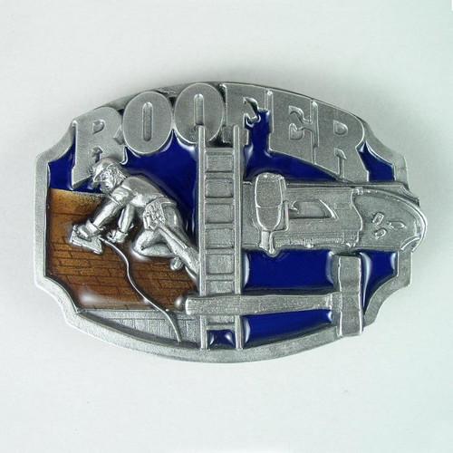 Manly Cowboy Zinc Alloy Buckle Belt PLUMBER ROOFER MECHANIC OPERATOR