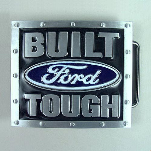 Built Ford Tough Belt Buckle Fits 1 1/2 Inch Wide Belt.