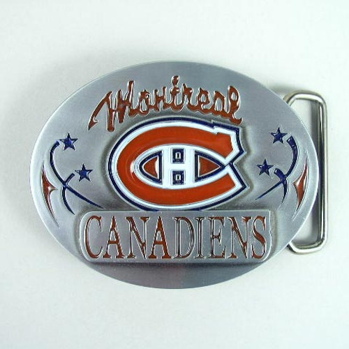 Montreal Canadiens Belt Buckle Fits 1 1/2 Inch Wide Belt.