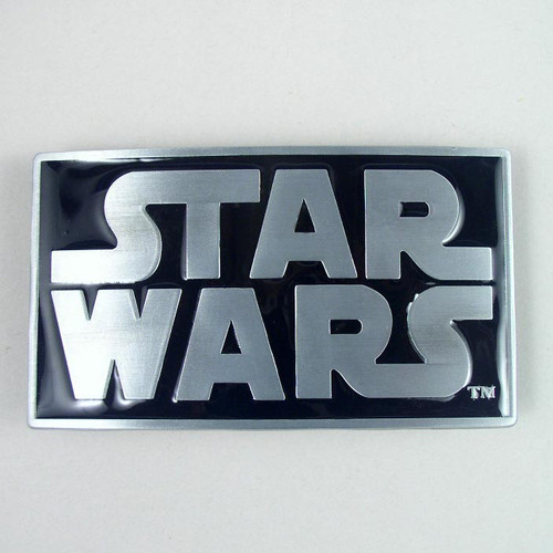 Star Wars Belt Buckle Fits 1 1/2 Inch Wide Belt.