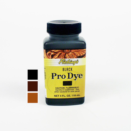 The Fiebing's Pro Dye is meant for undyed vegetable tanned tooling leather and not for redying products that have already been colored.  118 mL (4 oz)