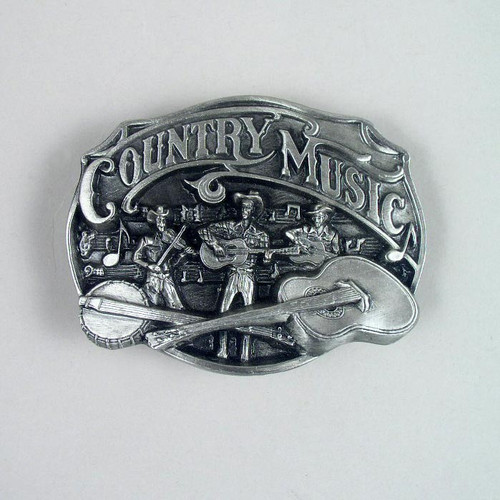 Country Music Belt Buckle (F) Fits 1 1/2 Inch Wide Belt.