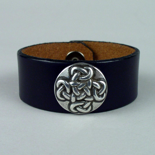"Cross Leather Wristbands 1 1/4"" wide"
