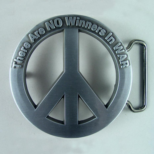 Peace Belt Buckle Fits 1 1/2 Inch Wide Belt.