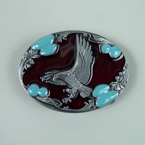 Eagle Belt Buckle (C) Fits 1 1/2 Inch Wide Belt.