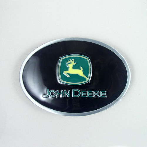 John Deere Belt Buckle (B) Fits 1 1/2 Inch Wide Belt.