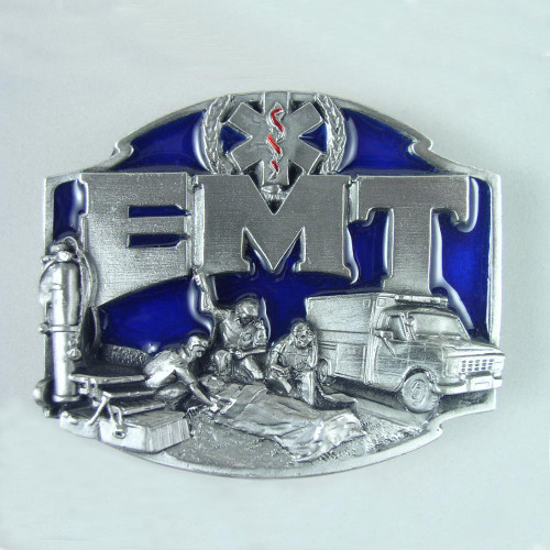 EMT Belt Buckle (B) Fits 1 1/2 Inch Wide Belt.