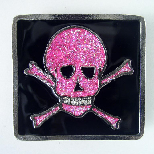 Small Pirate Belt Buckle (A) Fits 1 1/4 Inch Wide Belt.