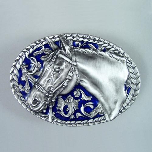 Horse Belt Buckle (D) Fits 1 1/2 Inch Wide Belt.