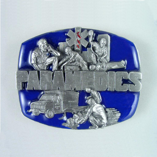 Paramedics Belt Buckle (B) Fits 1 1/2 Inch Wide Belt.