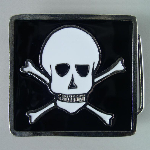 Small Pirate Belt Buckle (B) Fits 1 1/4 Inch Wide Belt.