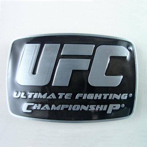 UFC Championship Belt Buckle Fits 1 1/2 Inch Wide Belt.