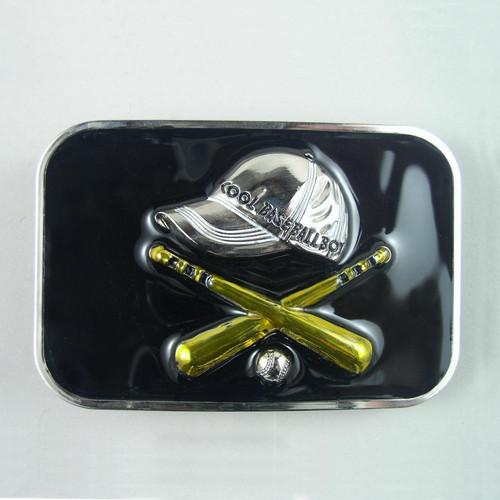 Baseball Belt Buckle Fits 1 1/2 Inch Wide Belt.