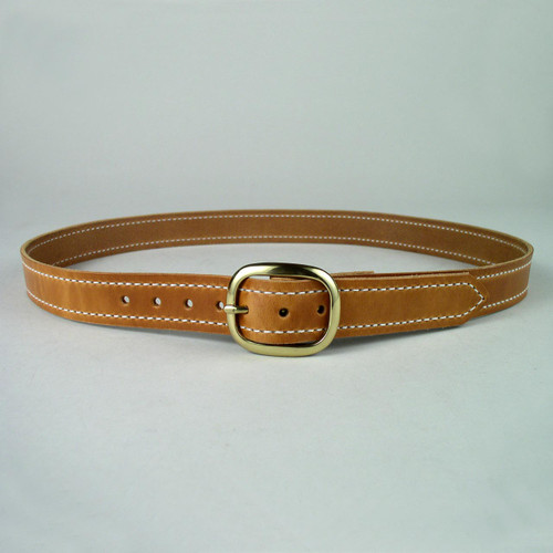 "Stitched Leather Belt 1"" Wide"
