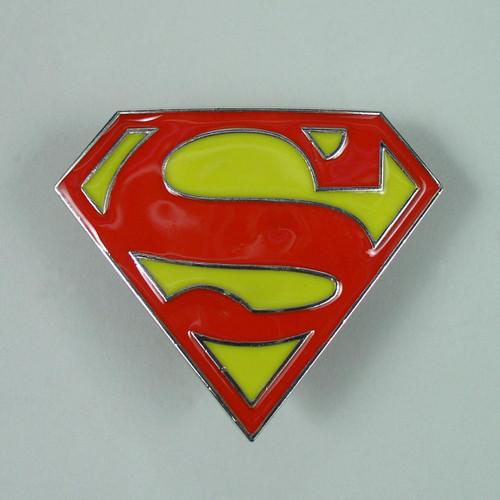 Superman Belt Buckle Fits 1 1/2 Inch Wide Belt.
