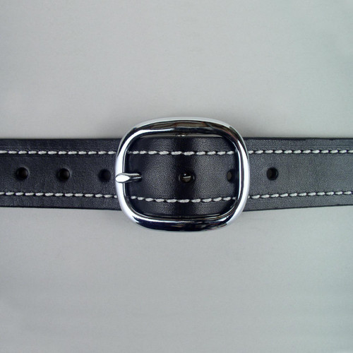 "Stitched Leather Belt 1 1/2"" Wide"